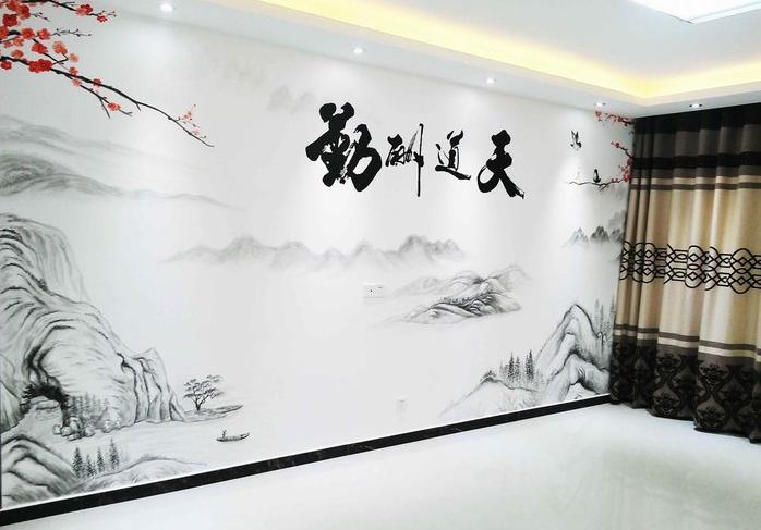 餐厅空间装饰墙绘